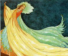 Illustration by Rudolf Koivu Art Nouveau, Art Deco, Inspiration Art, Fairy Queen, Fairytale Fantasies, Vintage Fairies, Floral Printables, Fairy Art, Children's Book Illustration