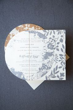 Shimmery Metallic Moon and Stars Wedding Invitations