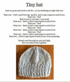 Ravelry: Roman Stitch Baby Hat pattern by marianna mel - Slideit. Baby Cardigan Knitting Pattern Free, Knitting Paterns, Baby Hats Knitting, Free Knitting, Baby Knitting Patterns Free Newborn, Knitted Dolls, Knitted Hats, Newborn Knit Hat, Newborn Hats