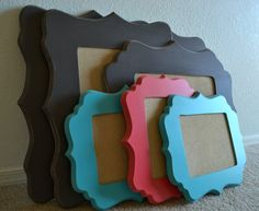 16x20 Whimsical Painted Picture Frame by LilWhimsyFrames on Etsy, $60.00