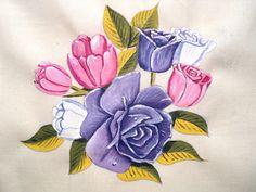 Ensinando A Pintar Flores No Tecido. Parte 02 | Arte no tecido