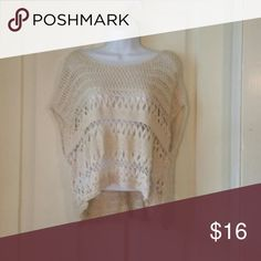 Abercrombie & Fitch crochet sweater One size, worn but great condition. Abercrombie & Fitch Sweaters