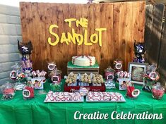 Finishing off April the right way! A sandlot themed table and it turned out so perfectly! We are booking for May and June! Cookies by… Baseball Theme Birthday, 1st Birthday Boy Themes, Baseball Party, 1st Boy Birthday, Boy Birthday Parties, Birthday Ideas, Baseball Cupcakes, Softball Party, Sac Halloween