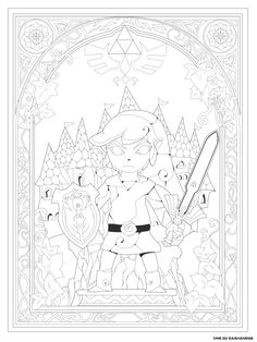 Nouveau 2019 Coloriage The Legend Of Zelda Breath Of The
