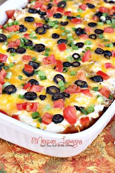 Mexican Lasagna | Can't Stay Out of the Kitchen | I have made this 3 times now- I was weary at first with mexican and noodles- but it is SO GOOD!!!! Making it tonight- pinning to share the genius of this!!!!