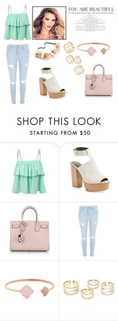 """""""Untitled #3"""" by hurija96 ❤ liked on Polyvore featuring LE3NO, Rebecca Minkoff, Yves Saint Laurent, River Island and Michael Kors"""