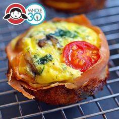 Prosciutto-Wrapped Mini Frittata Muffins!  Makes 12 muffins