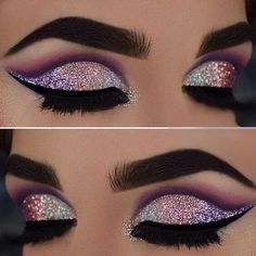 Stunning glittering eye makeup ✨✨