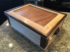 Mahjong case made from walnut, maple, and cherry. Unique Furniture, Wood Boxes, Cherry, Design, Decor, Wooden Crates, Decoration, Wood Crates