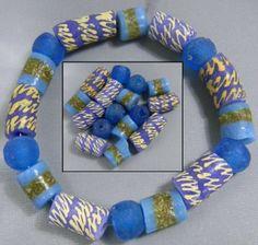 Blauw trurquoise kralenmix