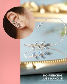 Wire Jewelry Designs, Handmade Wire Jewelry, Jewelry Crafts, Wire Wrapped Earrings, Beaded Earrings, Beaded Jewelry, Ear Jewelry, Jewelry Art, Jewelry Making