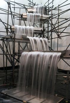 architecture of a waterfall - gorgeous!  |  Olafur Eliasson