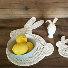 This listing is for a Crochet Pattern only and not the finished product.    This cute rabbit place mat or table centrepiece will look great on your Easter breakfast table!   Make a few as Easter gifts for friends and family too!    The PDF pattern is clear and easy to follow but if you have any queries please don't hesitate to message me.    Skill level: Easy    Yarn required: Ribbon Yarn    Written in US standard terms.    ______________________________    The pattern is copyright to Angela…