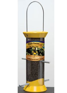 """The Droll Yankee New Generation 8"""" Finch Flocker  sure has the right name!! I got one 3 weeks ago and the #birds LOVE it!! I get sooo many Finches, Chickadees, Tufted titmouse, and sparrows!  Great for all the little guys!!"""