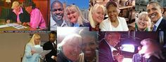 Megan Smolenyak, a professional genealogist, has helped several leaders with their family history work. Top row, left to right, Robin Roberts, Emmitt Smith, Leah Chase, and President Barack Obama. Bottom row, left to right, Al Sharpton, Michelle Obama and Cory Booker.