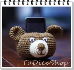 Cell phone stand holder plush  Oso Bear  PDF pattern by tudiepshop, $3.50