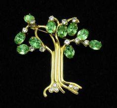 KJL Kenneth Jay Lane Rhinestone Figural Tree of Life Figural Brooch Pin   eBay