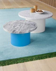 #e15 Enoki #bijzettafels. #Design #tafel met marmeren blad. Diverse soorten en maten verkrijgbaar.