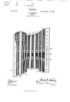 Patent USD32418 - DESIGN FOR A CORSET - Google Patents- 1900