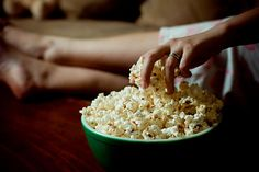 mmmmm popcorn over a movie, and even better next to your love one!