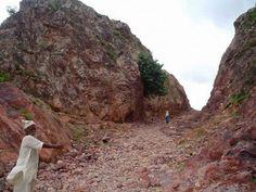 Dasrath Manjhi cuts a 260-foot road through a mountain