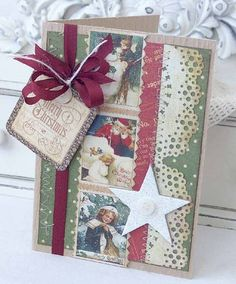 The Scrappy Gourmet Gallery - Melissa Phillips - Vintage Holiday Card Kit - Merry Christmas