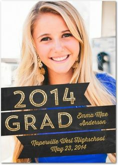 Shining Inspiration - #Graduation Announcements in black and gold.