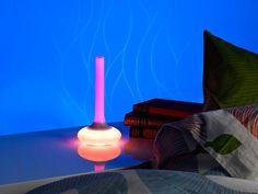Lunartec -Nachttisch-Lampe mit Farbwechsel & Taschenlampe