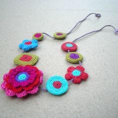 Sybella Crochet Motifs Necklace