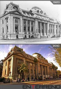 bibliotecanacionalamosantiago11 Louvre, Building, Travel, Vintage, Santiago, Watercolor Paintings, Dibujo, Viajes, Buildings