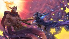 Cosmic Dusk Xayah & Cosmic Dawn Rakan: lovers and rebels   Космический закат Шая и Космический рассвет Рэйкан #vastaya #вастайи @League of Legends   Лига Легенд #LoL #ЛоЛ #love #marksman and #support #duo