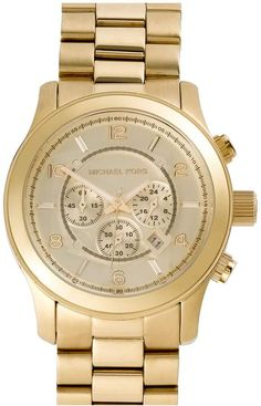 63689e5318f Michael Kors  Large Runway  Chronograph Bracelet Watch