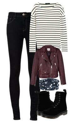 """""""Hayley Marshall Inspired Outfit"""" by mytvdstyle ❤ liked on Polyvore featuring Ström, J.Crew, Dr. Martens, Reiss, to, Inspired, tvd, TheOriginals and thevampirediaries"""