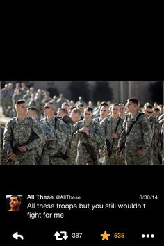 All these troops but you still wouldn't fight for me