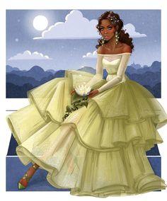 Disney Princess Art, Disney Fan Art, Punk Princess, Tiana And Naveen, Princesa Tiana, Alternative Disney Princesses, Black Cartoon Characters, Female Cartoon, Disney Characters