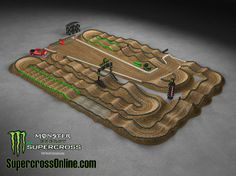 Dirt Bike Track, Rc Track, Nitro Circus, Triumph Motorcycles, Edward Jones Dome, Ducati, Mopar, Motocross Tracks, Monster Energy Supercross