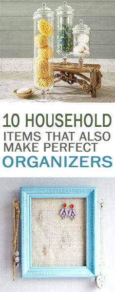 10 Household Items That Also Make Perfect Organizers - 101 Days of Organization Household Organization, Home Organization Hacks, Organizing Your Home, Storage Hacks, Organizing Tips, Organising, Diy Storage, Storage Ideas, Cleaning Hacks