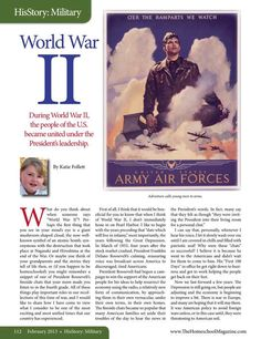 World War II  The Old Schoolhouse Magazine - February 2013 - Page 112-113