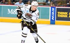The Hershey Bears are proud to announce that Beck Malenstyn has been named the team's winner of the IOA/American Specialty AHL Man of the Year award for his outstanding contributions to the Hershey community during the season. Sled Hockey, American Hockey League, Hershey Bears, Hometown Heroes, Team Events, Sick Kids, Children In Need, All Star, Baseball Cards