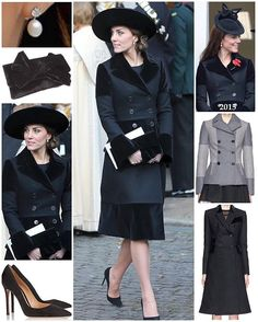 The Duchess of Cambridge was in a familiar coat today as she attended a memorial service for the sixth Duke of Westminster.  She returned to her bespoke Alexander McQueen coat she wore to Remembrance Sunday in 2015. The coat features elements of both the Double Breasted Patchwork Compact Felt Coat (originally £1,545 before selling out) and the Velvet Trim Double Breasted Compact Wool Felt Coat (originally £2,045). The heavyweight coat features patchwork velvet pieces, notched lapels and a…