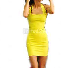 Vita Women's Sexy/Bodycon/Casual/Party Sleeveless Dresses (Cotton Blend) - USD $ 12.99