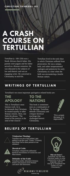 CRASH COURSE- Tertullian