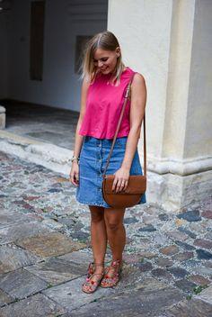 Outfit - Der Jeansrock - ein Must Have für den Sommer - La Katy Fox