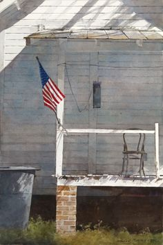 ... porch. Tres Andrew Wyeth, no? #art #fineart #Charleston #auction - this is not a Wyeth but my good friend Dean Mitchell, signed lower right