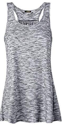 Bigood Gilet sans Manche Femme Et/é T-Shirt Tops D/ébardeur Fleur Feuille