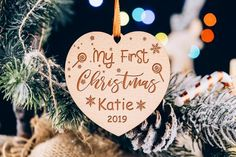 Our First Christmas Ornament Mr Mrs Wedding Personalize Christmas Gift New Couple Gift Wedding Favor Ornaments Holiday Decor Wooden Ornament Family Christmas Gifts, First Christmas, Christmas Ornaments, Ornament Drawing, Aspen Wood, Tree Images, Newlywed Gifts, Gifts For Wedding Party, Newlyweds