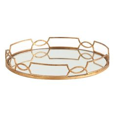 Exceptional Hollywood Regency Large Gold Link Mirrored Tray Kathy Kuo Home Http://www.