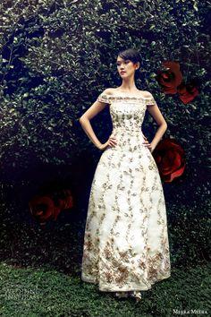 meera meera wedding dresses 2013 off shoulder lace ball gown