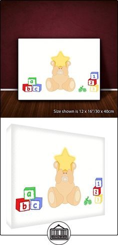 Feel Good Art Bearheart lienzo sobre marco arte pared de estilo moderno/illustratif, diseño de oso durmiendo, multicolor 60x 90cm  ✿ Regalos para recién nacidos - Bebes ✿ ▬► Ver oferta: http://comprar.io/goto/B01GCM7B1U