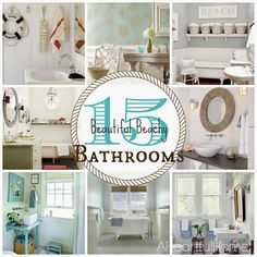 A Heartful Home: {31 Days of Coastal Style} 15 Beautiful Beachy Bathrooms